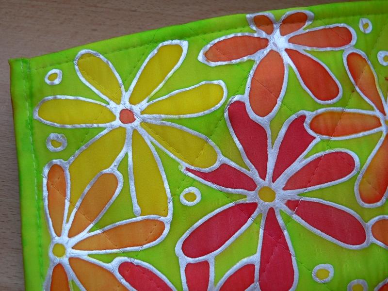 Malovaná hedvábná taštička