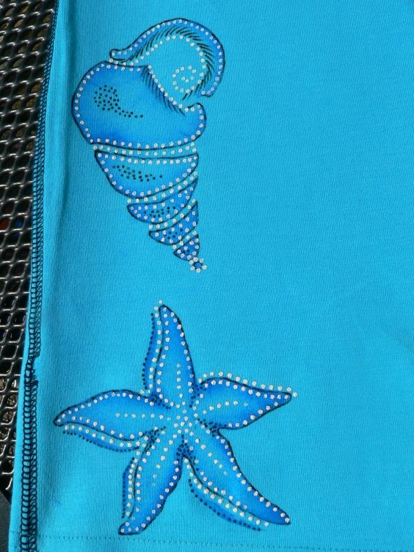 Stírání voskovek na textil přes šablony