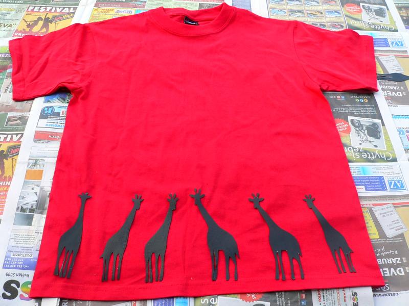 Žirafí triko – kombinace technik
