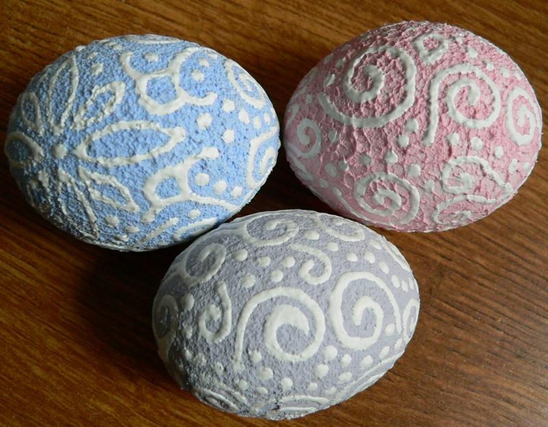 Kraslice pastelové s ornamenty