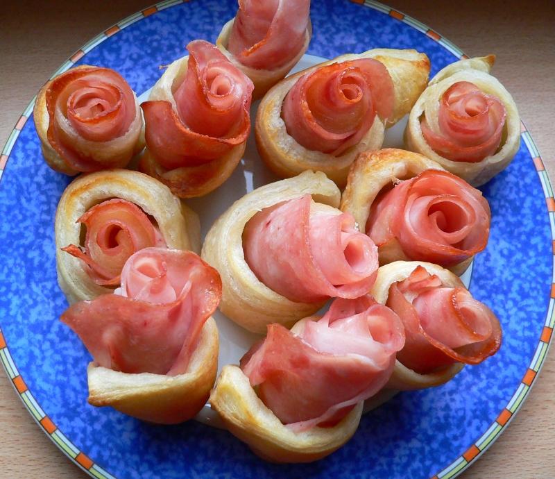 Růžičky z listového těsta