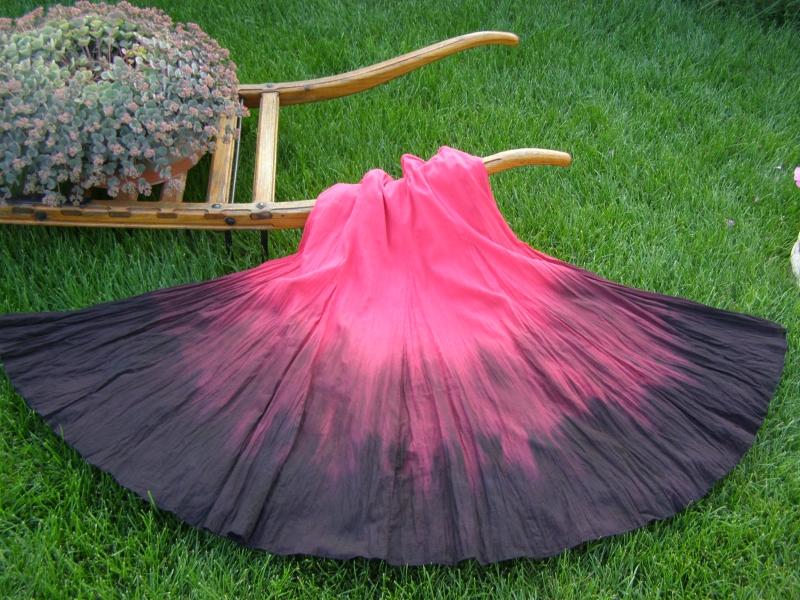 Střih na osmidílnou sukni