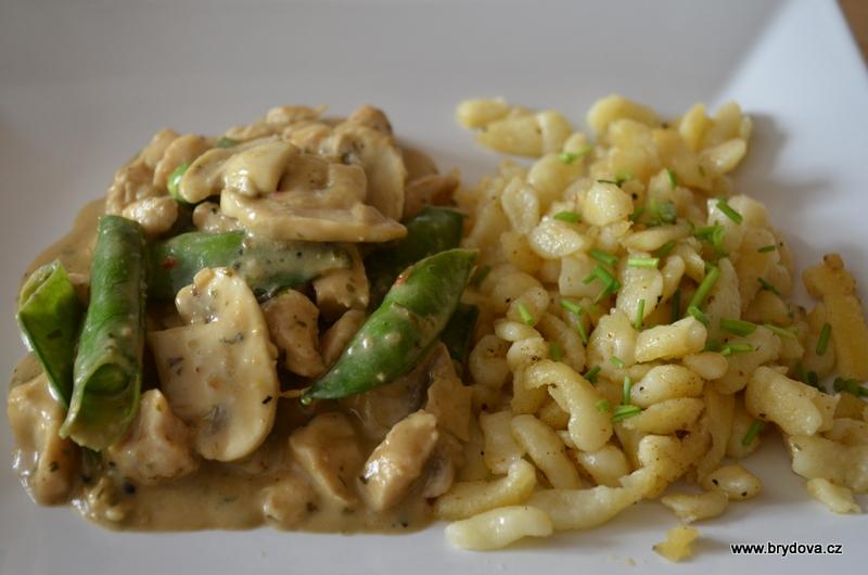 Lehce zelené jídlo