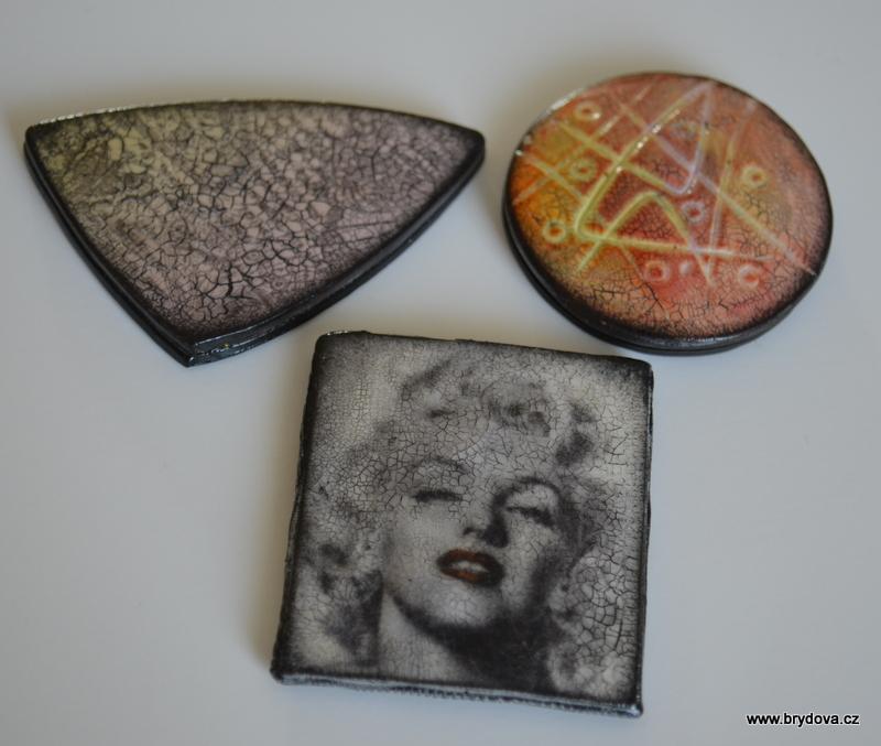 FIMO šperky s jemným krakelováním