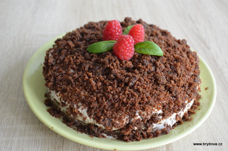 Krtkův dort s kokosovou šlehačkou