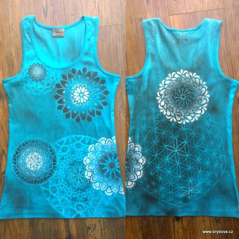 Dvojité mandalové triko