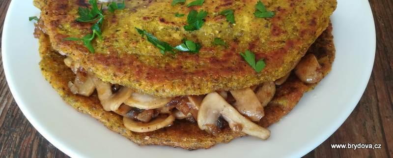 Vegan omeleta s houbami