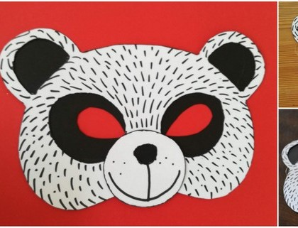 Papírová maska panda