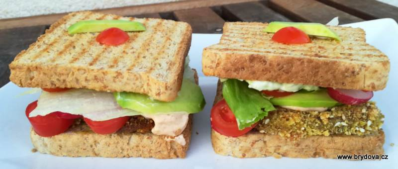 Houbové sendviče