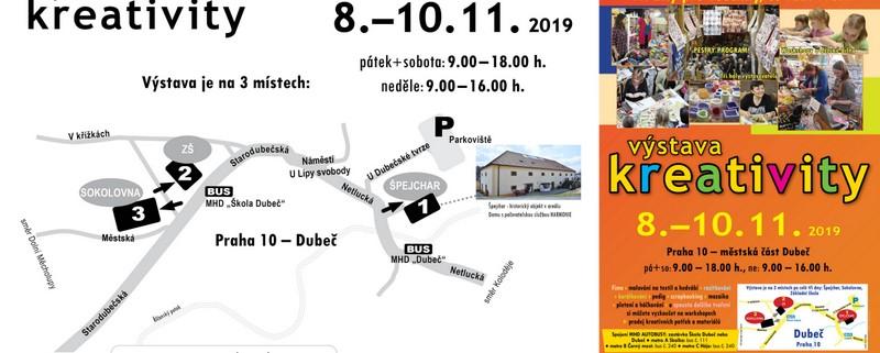 Vystavovatelé a workshopy – Výstava Kreativity podzim 2019