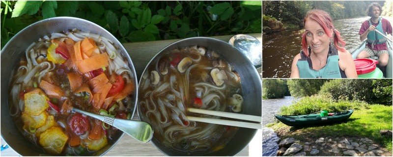 Miso polévka vařená v přírodě